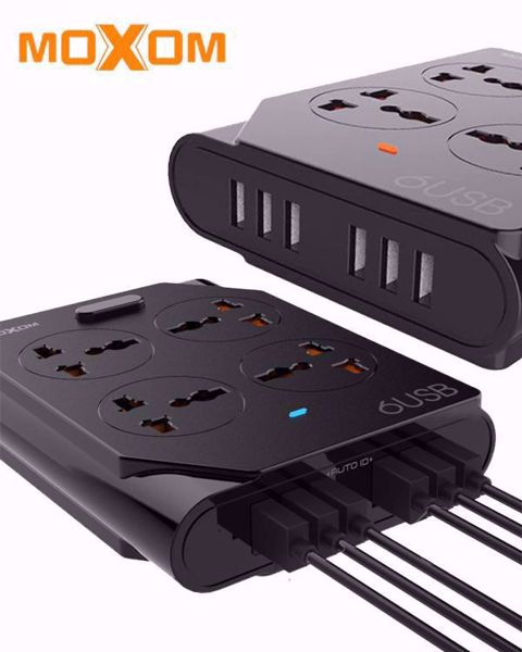 Picture of Moxom KH-63 4 Socket 6 USB Port Intelligent Power Wall Charger