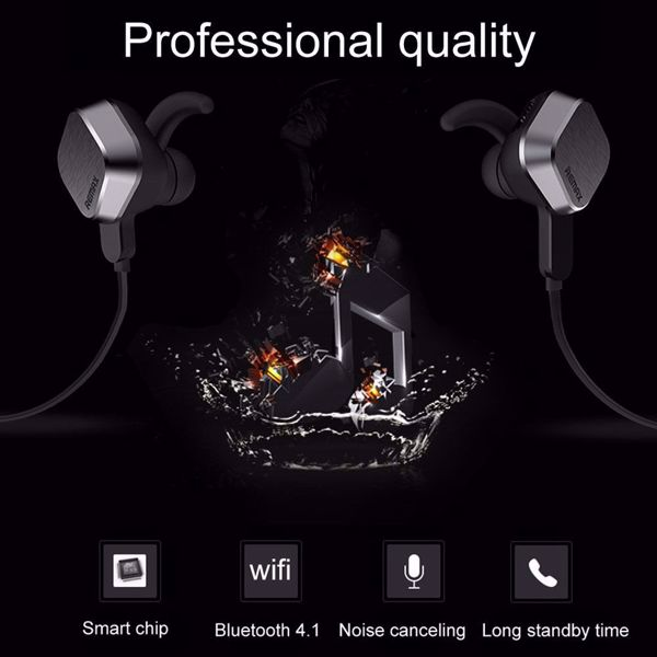 Albedaia Shop Remax S2 Unique Magnet Headset Wireless Bluetooth Sport Earphone